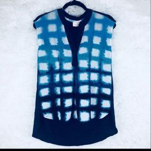 Anthropologie navy  sleeveless hi-low blouse